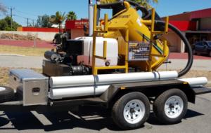 utility service locating vac trailer
